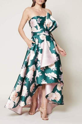 Sachin + Babi Floral Strapless Gown