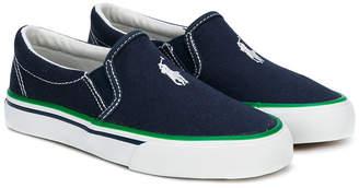 Ralph Lauren logo embroidered slip-on sneakers