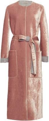 Bottega Veneta Belted Crushed Velvet Coat