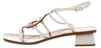 Louis Vuitton Leather Embellished Sandals w/ Tags