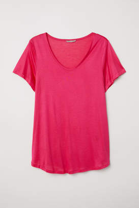 H&M H&M+ Jersey Top - Pink