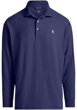 Ralph Lauren Polo Golf by Lightweight Interlock Long Sleeve Polo Shirt