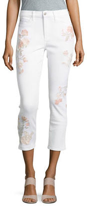 Buffalo David Bitton Embroidered Hi-Rise Cropped Jeans $118 thestylecure.com