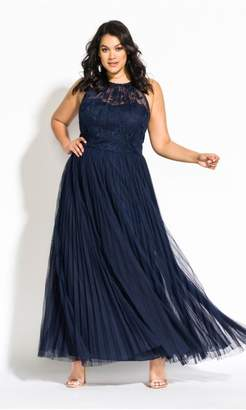 City Chic Citychic Angelic Maxi Dress - navy