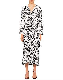 Rixo London Betty Long Sleeve Wrap Maxi Dress