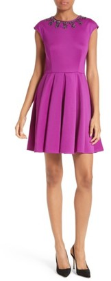 Women's Ted Baker London J'Adore Embellished Fit & Flare Dress $279 thestylecure.com