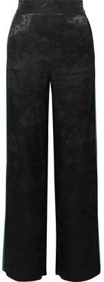 Maje Satin-jacquard Straight-leg Pants