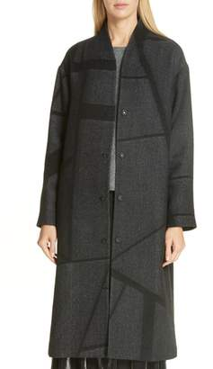Eileen Fisher Wool Alpaca Blend High Back Coat