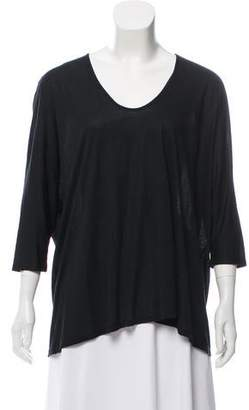 The Row Knit Three Quarter Sleeve Top
