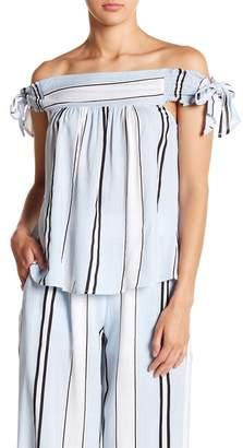 Hazel Cool Stripe Off-the-Shoulder Blouse