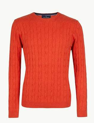 Marks and Spencer Cotton Rich Cable Knit Jumper