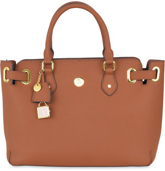 Joy Mangano Christie Leather Satchel $320 thestylecure.com