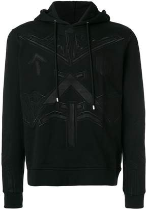Les Hommes embroidered detail hoodie
