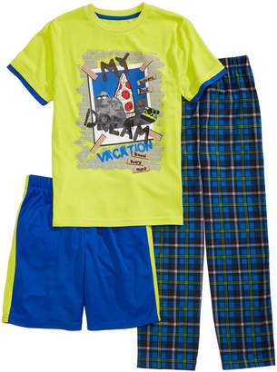 LTB Max & Olivia 3-Pc. Graphic-Print Pajama Set, Little & Big Boys