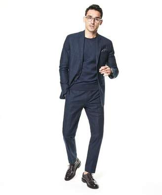 Todd Snyder White Label Sutton Windowpane Cotton Suit Jacket In Navy