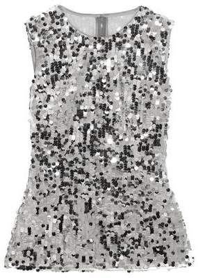 Dolce & Gabbana Sequined Tulle Top