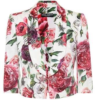 Dolce & Gabbana Floral-printed jacquard blazer