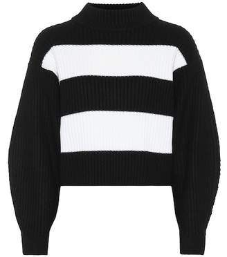 Tibi Merino wool striped sweater