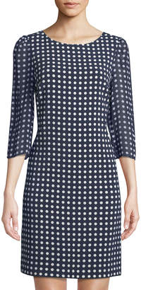 Karl Lagerfeld Paris Polka-Dot Chiffon Sheath Dress