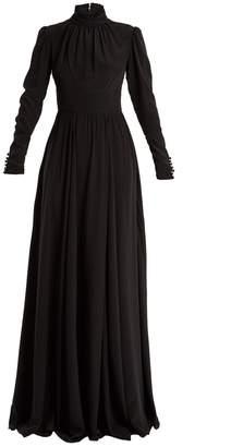 Rochas High-neck silk gown