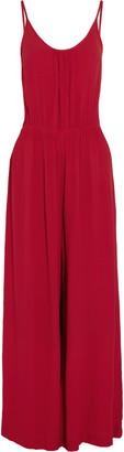 Vix Kate ruched crepe jumpsuit $176 thestylecure.com