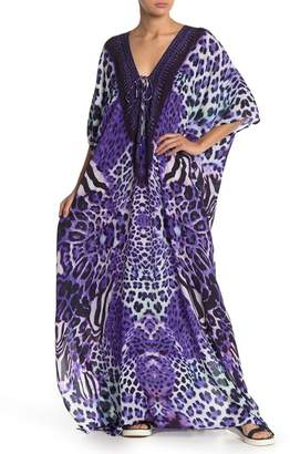Shahida Parides Lace Up 3-Way Style Long Kaftan