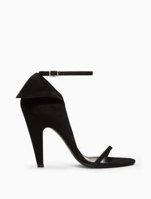 Calvin Klein high-heeled deco sandal in suede