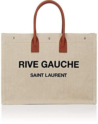 Saint Laurent Women's Rive Gauche Large Canvas Tote Bag