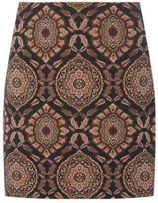 Dorothy Perkins Womens Black Paisley Print Mini Skirt