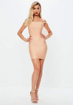 Missguided Pink Sweetheart Bandage Bodycon Dress