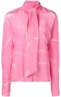 Natasha Zinko pussy bow printed blouse