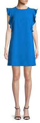 Nicole Miller New York Ruffle-Sleeve Shift Dress