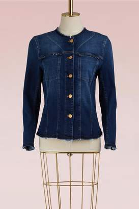 7 For All Mankind No Collar Denim Jacket