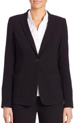 Elie Tahari Wendy Crepe Jacket $398 thestylecure.com