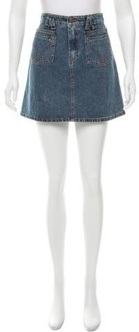 Dolce & GabbanaD&G Denim Mini SKirt