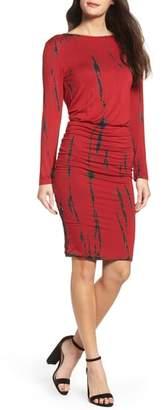 Fraiche by J Tie Dye Blouson Midi Dress