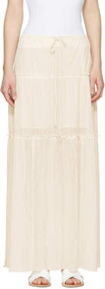 See by Chloe White Long Gauze Skirt