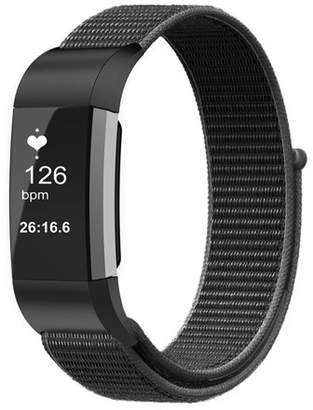 Fitbit Fintie For Charge 2 Band, Nylon Sport Loop Breathable Nylon Replacement Strap Wrist bands with Adjustable Closure Black