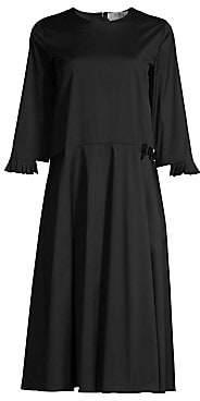 Max Mara Women's Embellished Poplin Midi Dress