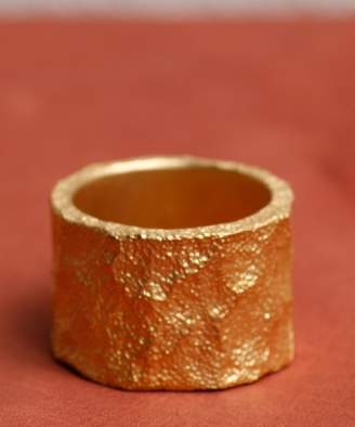 A Lounge Gild Frosted coat texture wide ring G162RI02