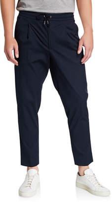 Moncler Men's Pleated-Front Trouser Pants