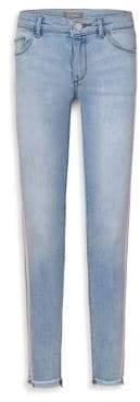 DL Premium Denim Little Girl's& Girl's Side Stripe Skinny Step Hem Jeans