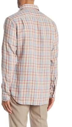 Peter Millar Canyon Plaid Regular Fit Linen Shirt