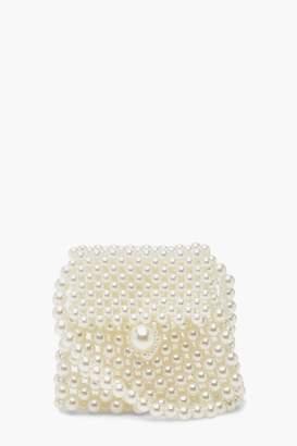 boohoo Mini Pearl Cross Body Bag