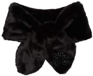 Simone Rocha Black Faux-Fur Bow Scarf