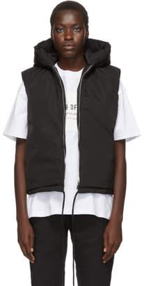 Fear Of God Black Nylon Hooded Vest