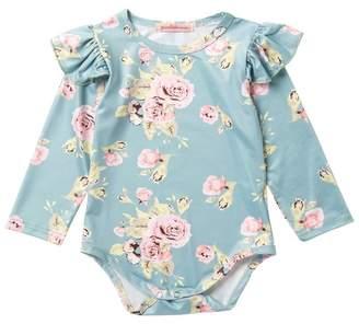 Paulinie Floral Print Bodysuit (Baby Girls)