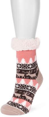 Muk Luks Fluffy Cabin Socks 1 Pair Boot Socks - Womens