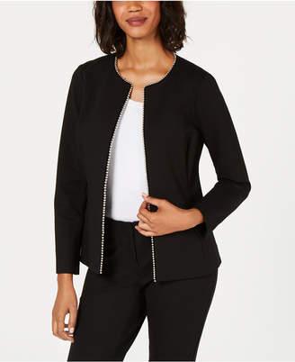 Alfani Embellished-Trim Jacket, Created for Macy's