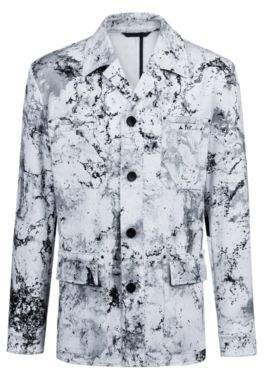 HUGO Boss Regular-fit blazer in stretch cotton collection pattern 38R Open White